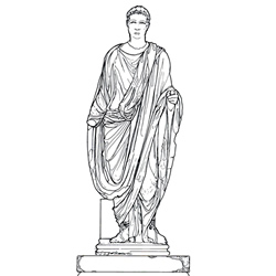 Statue monument of Julian, later re-inscribed for Theodosius: Reconstruction drawing